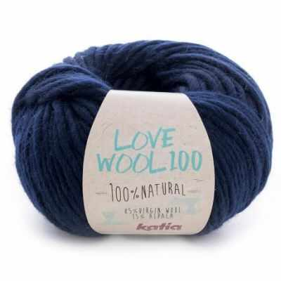 Пряжа Katia Love Wool Цвет.1098.213 т.синий