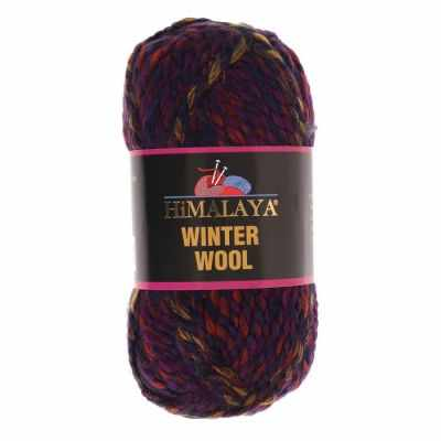 Пряжа Himalaya  Winter wool Цвет.04 сирен.оранж.борд.мел.