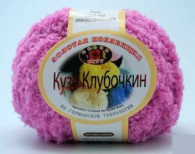Пряжа Color City Кузя Клубочкин Цвет.19 св.Фуксия