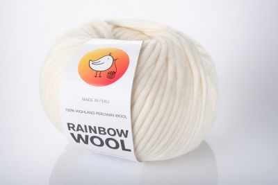 Пряжа RAINBOW BIRD RAINBOW WOOL Цвет.Starwhite