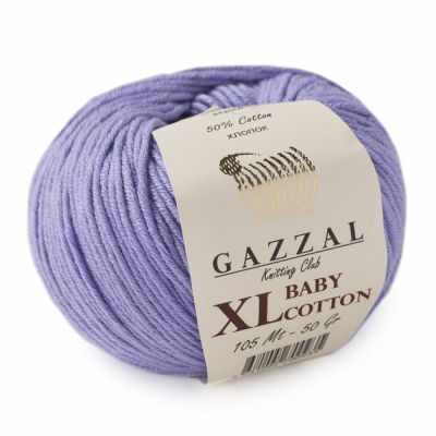 Пряжа GAZZAL Baby Cotton XL Цвет.3420XL Лаванда