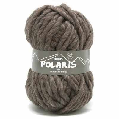 Пряжа DROPS Polaris Цвет.05m Taupe/маренго