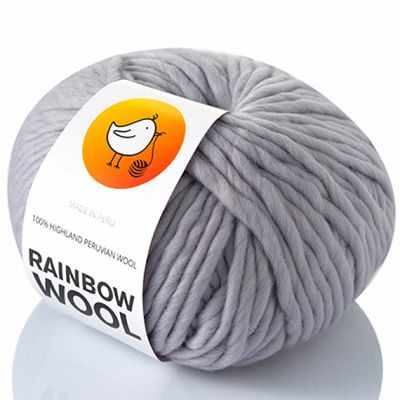 Пряжа RAINBOW BIRD RAINBOW WOOL Цвет.SiIver