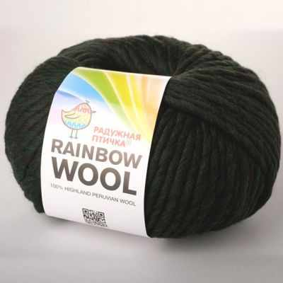 Пряжа RAINBOW BIRD RAINBOW WOOL Цвет.Deep Forest