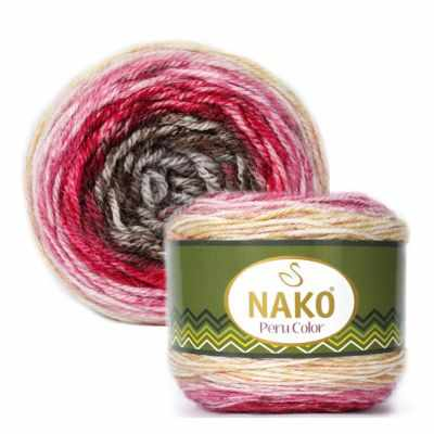 Пряжа Nako PERU COLOR Цвет.32189
