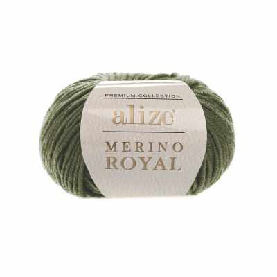 Пряжа Alize Merino Royal Цвет.284 Хаки