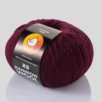 Пряжа RAINBOW BIRD XS RAINBOW WOOL Цвет.Maroon