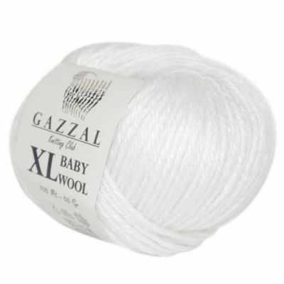 Пряжа GAZZAL Baby Wool XL Цвет.801XL Белый