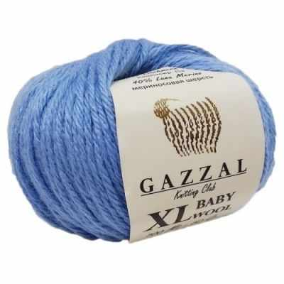 Пряжа GAZZAL Baby Wool XL Цвет.813XL Голубой